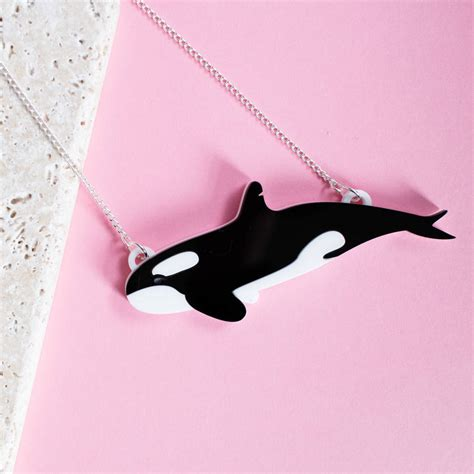 orca killer whale necklace by finest imaginary