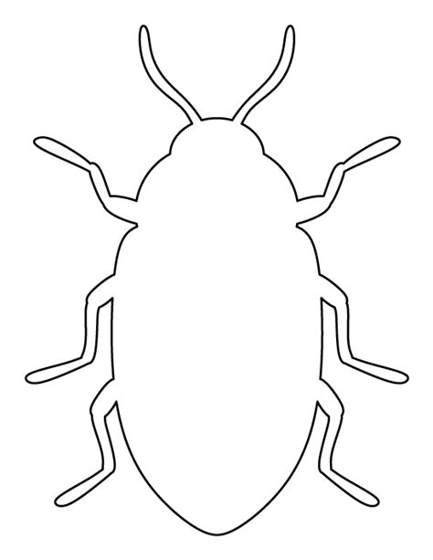 insect templates beetle pattern use the printable outline for crafts