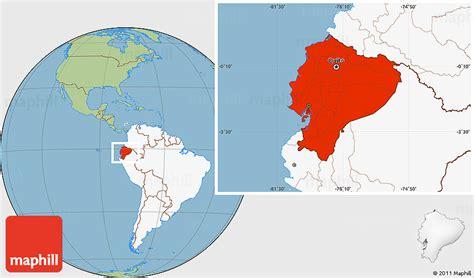 world map ecuador savanna style location map of ecuador highlighted continent