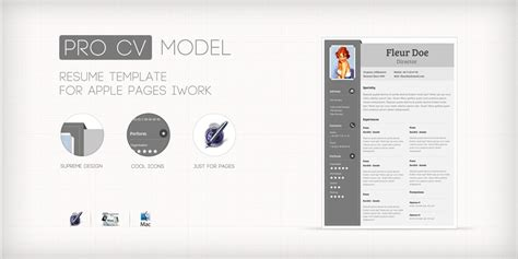 modele cv mac pages document