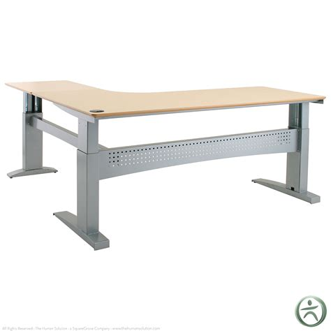 L Shaped Table Desk Conset 501 11 Laminate Electric L Shaped Desk Shop L Shaped Desks