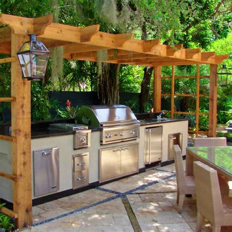 Outside Kitchen Designs Pictures Contemporary Outdoor Kitchen Plan Inspiration Decosee