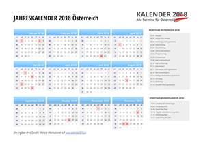 Kalender 2018 Mit Feiertagen Kalender 2018 214 Sterreich Feiertage Ferien Kw