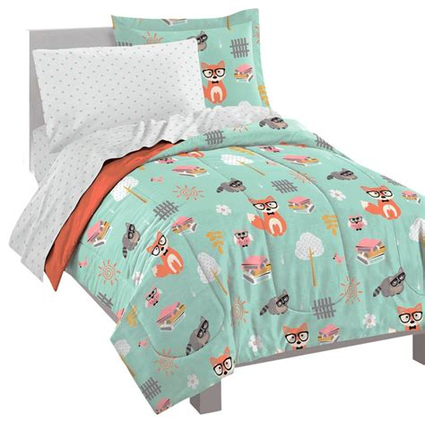 kid comforter woodland friends ultra soft microfiber twin comforter set