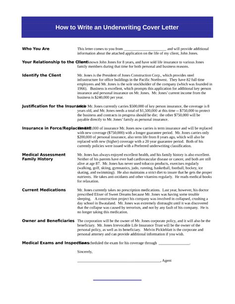 insurance underwriting cover letter sles and templates