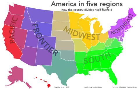 How To Find In The Usa Optimus 5 Search Image The Five Regions Of The United