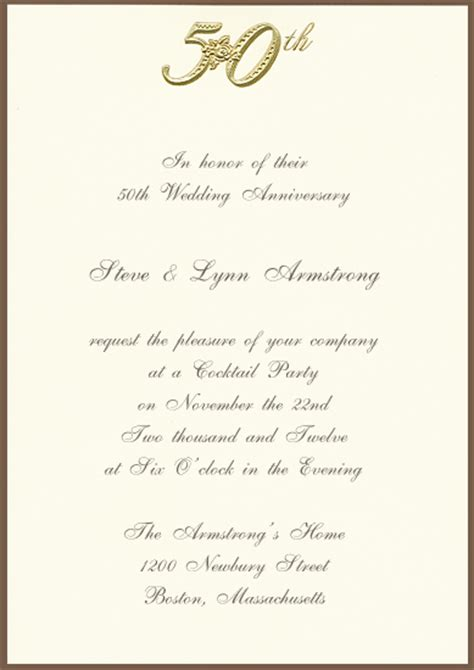 50th wedding anniversary invitations templates free printable 50th golden anniversary invitation