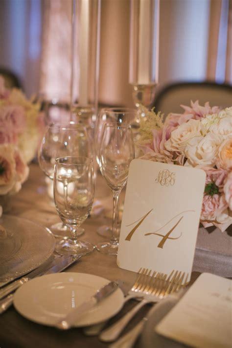 elegant reception table settings elizabeth anne designs monogrammed gold reception table numbers elizabeth anne