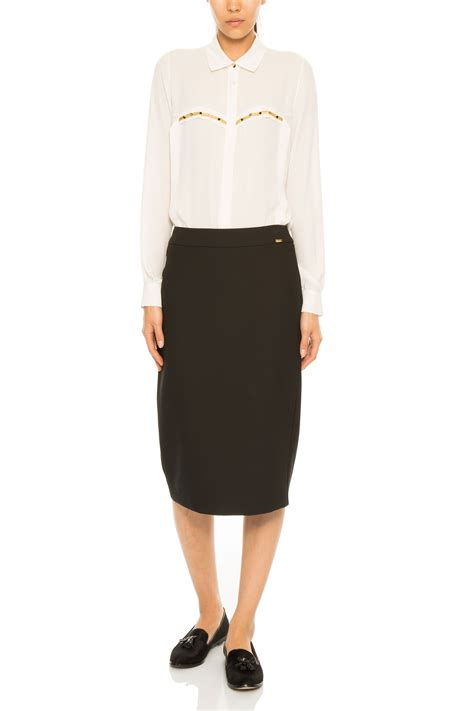 midi pencil skirt in black gizia