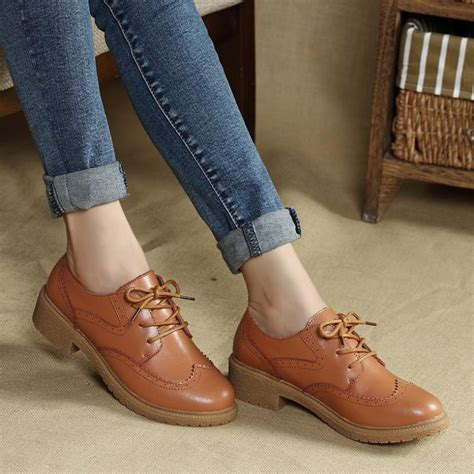 Model Sepatu Formal Wanita Kulit Asli High Heels 5cm Olive Mur Kere new 2016 genuine leather oxford shoes for fashion brogue carved toe lace up