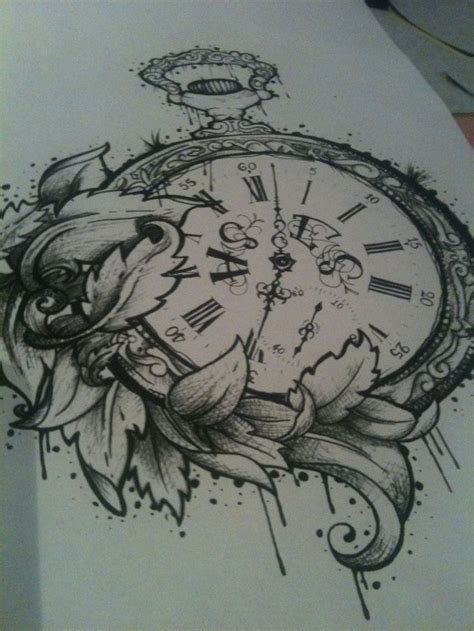 stopwatch tattoo designs stopwatch floral design tats on tats