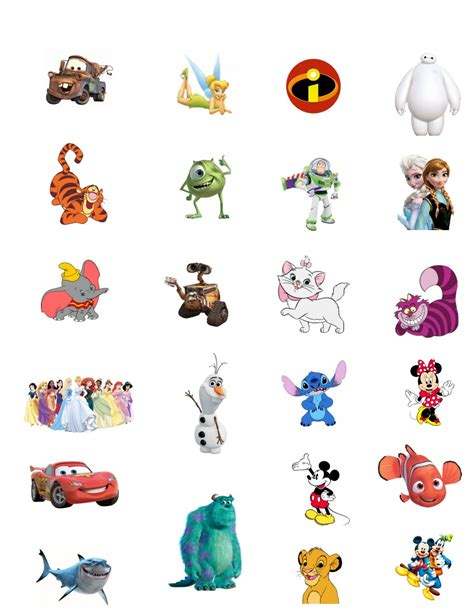Printable Disney Characters diy disney character tattoos clever pink pirate