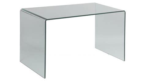 bureau table en verre bureau en verre tremp 233 courb 233 bureau design