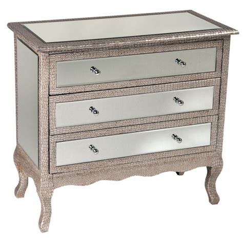mock croc mirrored silver chest of drawers free delvery