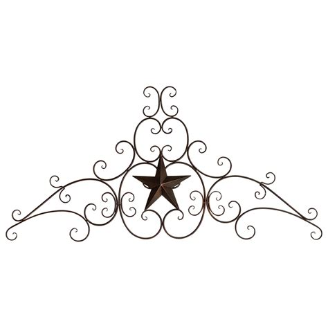 Wrought Iron Flatware by Metal Star Amp Scroll Wall Hanging