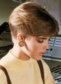 80s feathered hairstyles pictures feminine but boyish 80 s hairstyle with very short sides