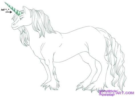 Drawing Unicorns by How To Draw A Unicorn Step By Step Unicorns