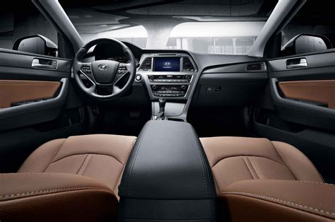 Hyundai Sonata Interior Dimensions korean market 2015 hyundai sonata hints at u s spec model