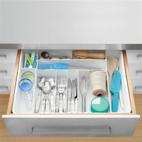 Kitchen Drawer Organizer Bed Bath And Beyond Real Simple 4 Way Expandable Cutlery Tray Contemporary