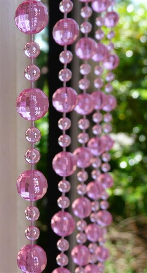 pink beaded curtains 8 beaded curtain pink mini balls that bohemian
