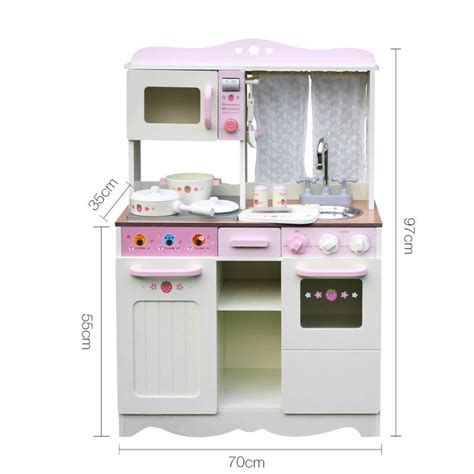 Pink Wooden Play Kitchen by Wooden Play Kitchen W Accessories White Pink Buy
