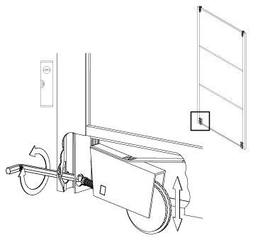 sliding door height adjustment installation guide for sliding wardrobe door