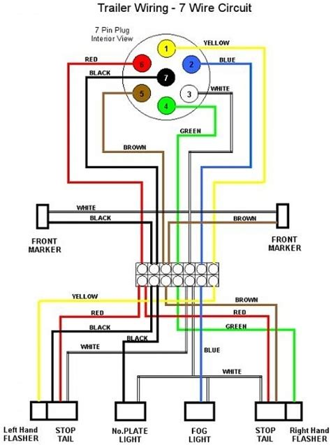 trailer lights wiring diagram 7 pin wiring diagram and