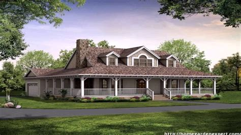single story house styles country style house plans one floor youtube
