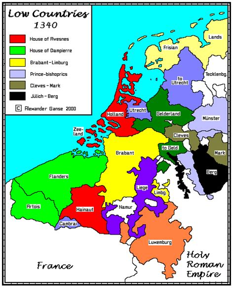 netherlands counties map the low countries the dukes of burgundy