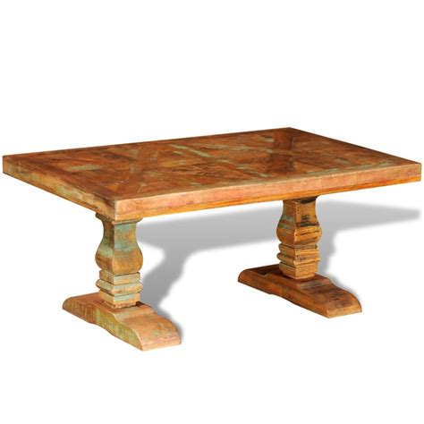 Solid Wood Coffee Tables Vidaxl Co Uk Reclaimed Solid Wood Coffee Table Antique Style