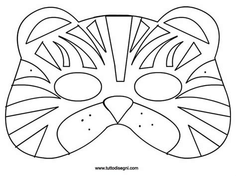 tiger template printable 1000 images about carnival on coloring tiger