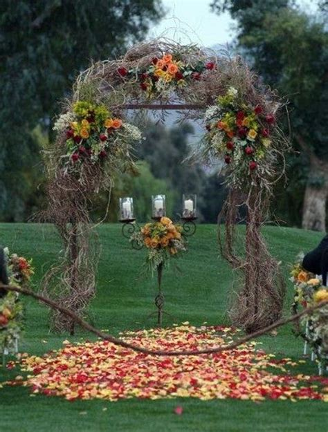 fall country wedding decorations 25 best ideas about fall wedding arches on