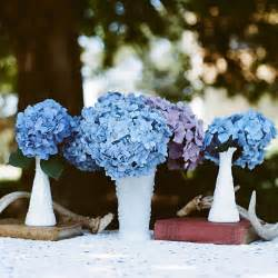 blue hydrangea wedding centerpieces memorable wedding something blue for your wedding