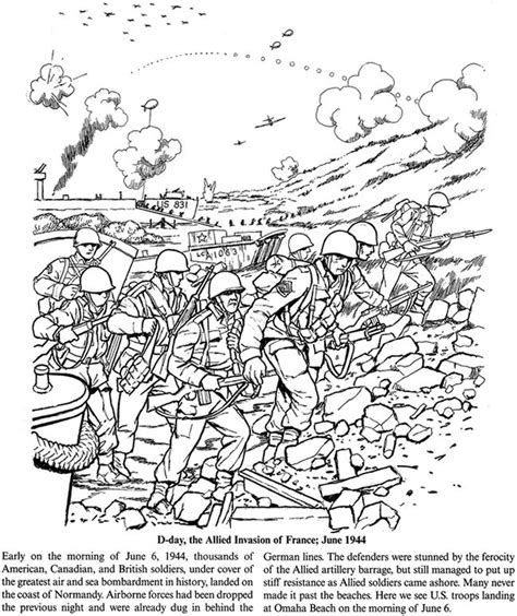 battle coloring pages story of world war ii dover publications coloring pages
