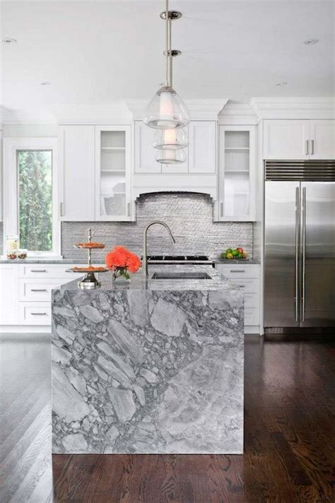 Open Galley Kitchen Ideas - 32 trendy and chic waterfall countertop ideas digsdigs