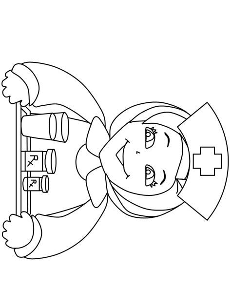 coloring page nurse nurse coloring pages for kids coloring home