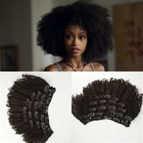 Hair Clip Curly Keriting Hair Extension shipping free mongolian human hair 4a 4b 4c afro curly clip in hair extensions for