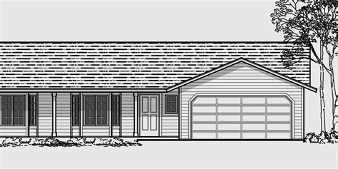 duplex plans with garage in middle one level duplex house plans corner lot duplex plans