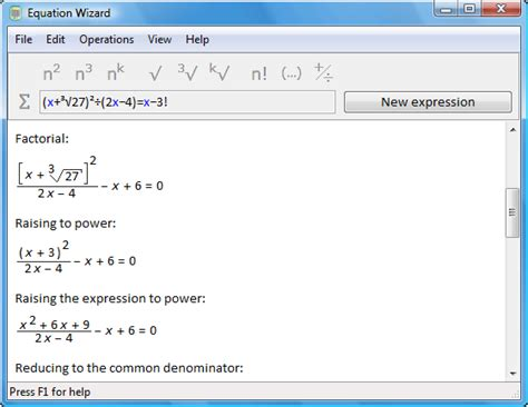 calculator equation free algebra solver
