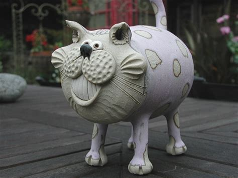 Pottery Cats   hand made pottery from Muggins Pottery in