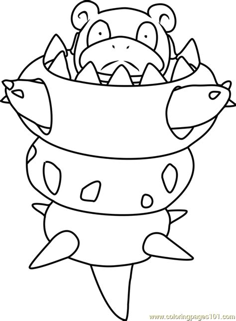pokemon coloring pages beedrill pokemon of mega slowbro free colouring pages