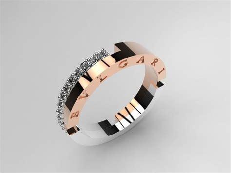 bvlgari ring 070 3d model stl 3dm 3d printable model bvlgari wedding ring cgtrader