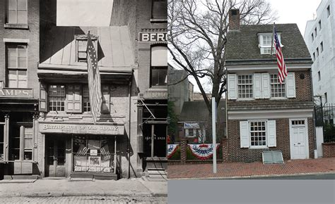betsy ross house 10 historical photos of philadelphia then and now