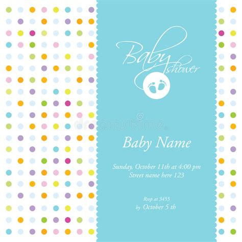 free baby shower card template baby shower card template stock vector image of cheerful