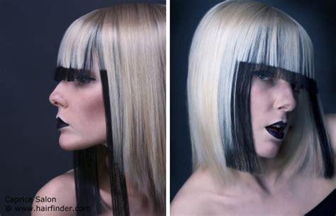 how to dye hair dark underneath would black dyed hair underneath blonde look like skunk hair