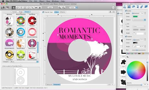 cd cover template for mac cd label printers software free