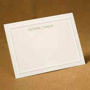 embossed panel flat note cards