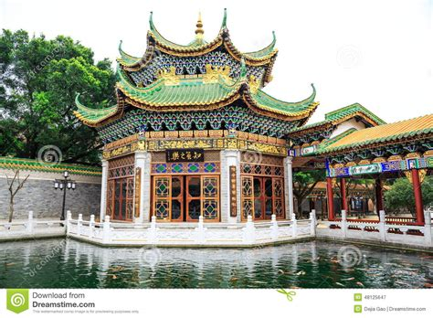 house of china asian chinese classic house ancient architecture china editorial photography image