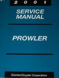 car engine repair manual 2001 chrysler prowler parking system 2001 chrysler plymouth prowler factory service manual