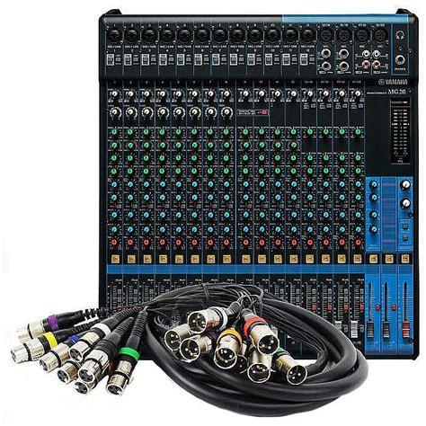 Audio Mixer Yamaha 8 Channel yamaha qtx sound yamaha mg20 20 channel mixer free 8 way xlr wiring loom audio cable 3m